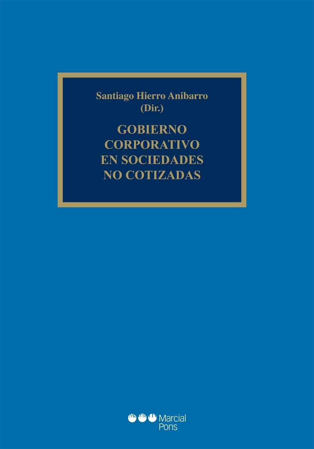 Gobierno corporativo en sociedades no cotizadas librer a bosch - Libreria marcial pons barcelona ...
