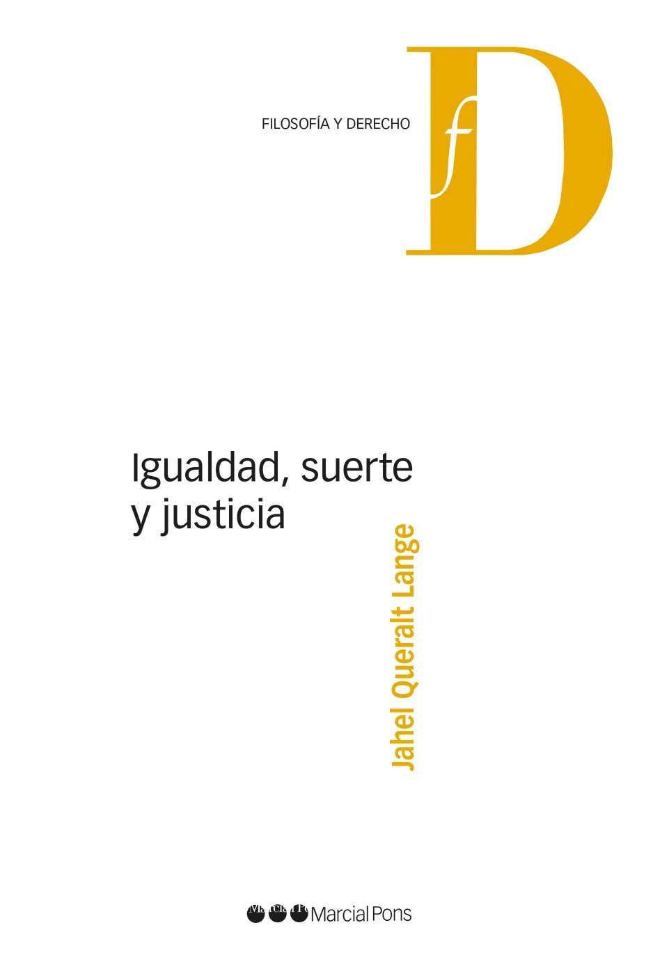 Igualdad suerte y justicia librer a bosch - Libreria marcial pons barcelona ...