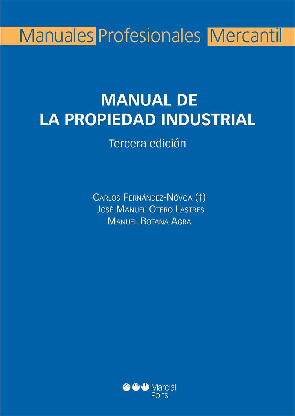 Manual de la propiedad industrial librer a bosch - Libreria marcial pons barcelona ...